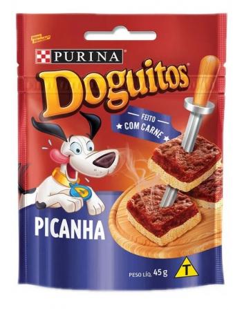 DOGUITOS PETISCO PARA CÃES SABOR PICANHA - 20X45G