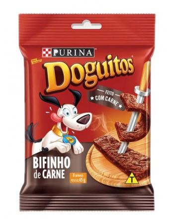 DOGUITOS PETISCO PARA CÃES SABOR BIFINHO CARNE - 20X65G